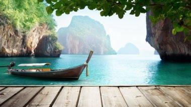 Adaman sea and wooden