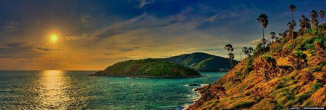 Sunset at Promthep Cape