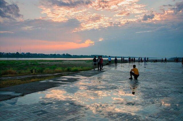 The sleepy city of Vientiane